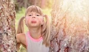 small girl showing Tongue